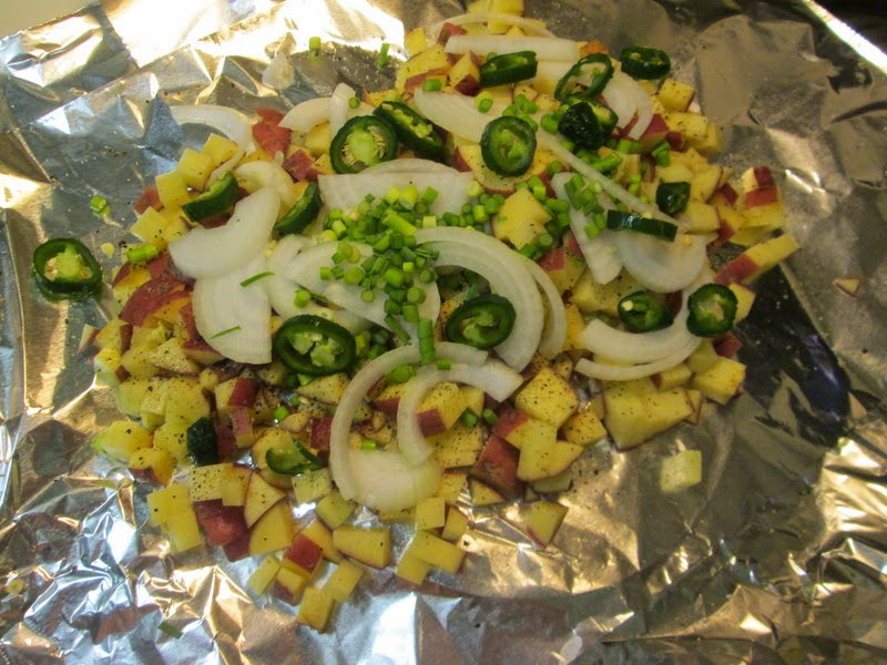 the bacon, jalapeno, onion, garlic and cheese combo