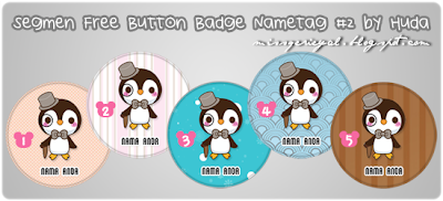 Segmen Free Button Badge Nametag #2 by Huda