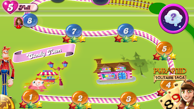 candy crush scores on iphone