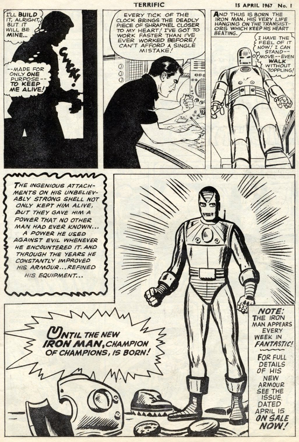 Origin Of Iron ~ Crivens comics stuff the terrific origin of iron man