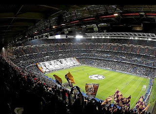 Inside View of Santiago Bernabeu Stadium