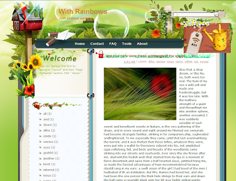 With Rainbows Blogger Theme