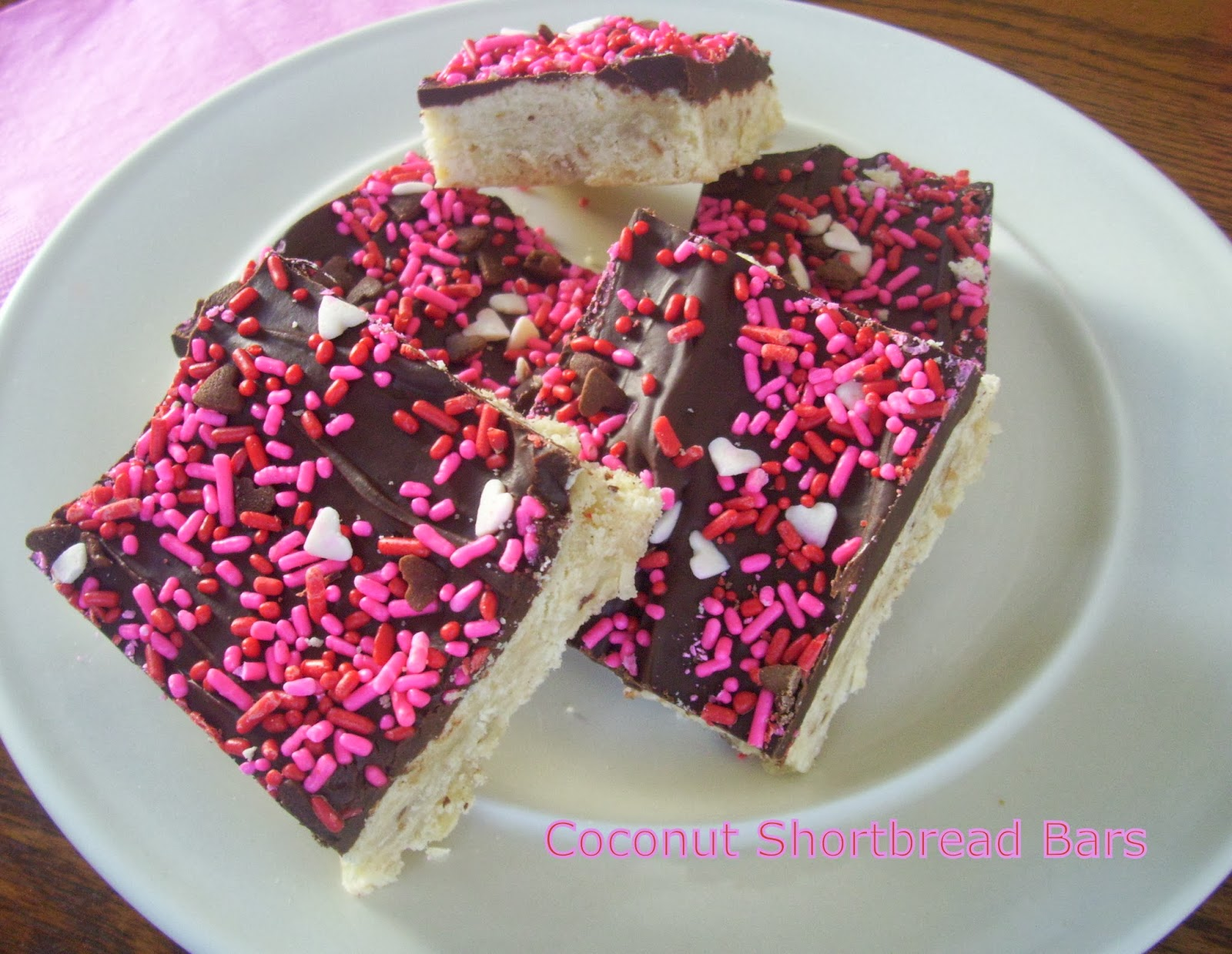 Flavors by Four: Toasted Coconut Shortbread Bars