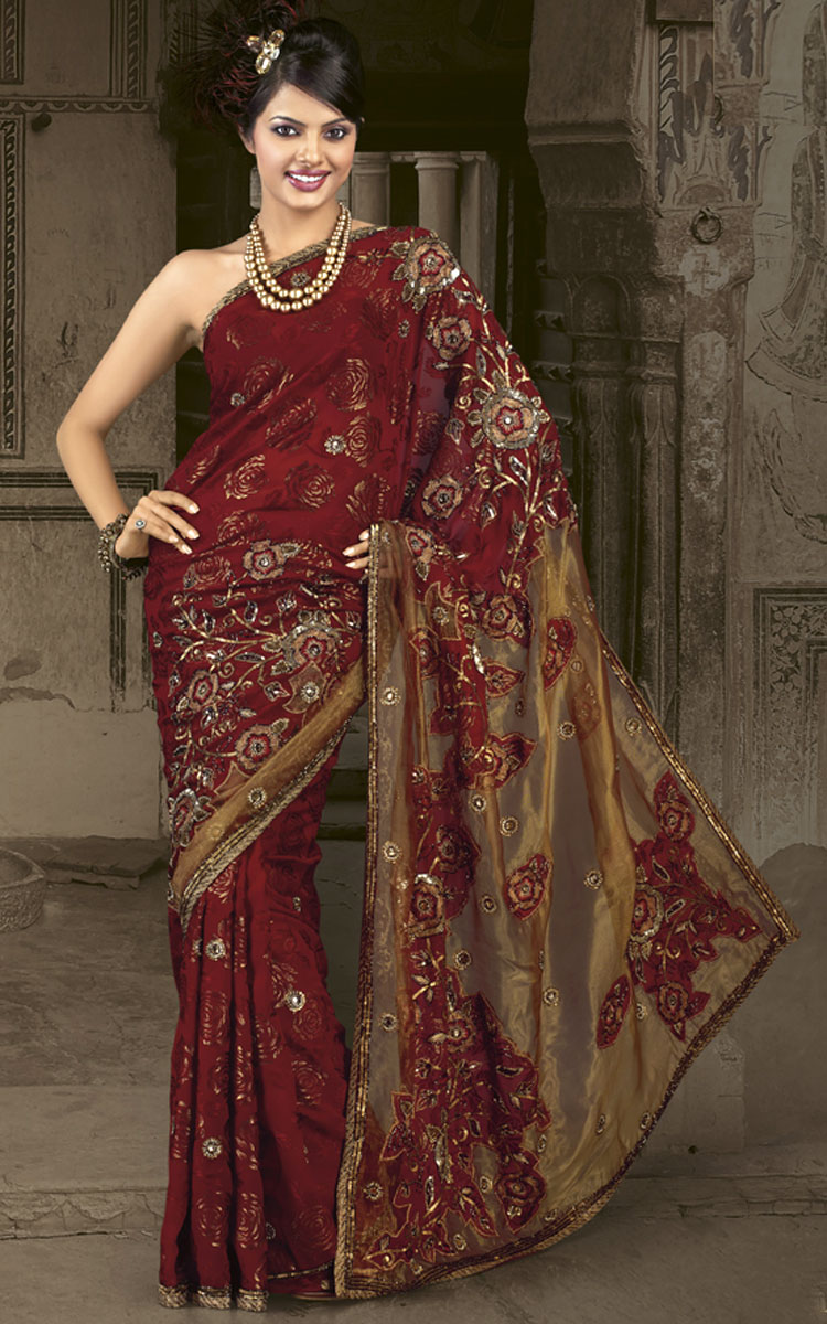 Latest Pakistani Indian Saree Designs Pakistan