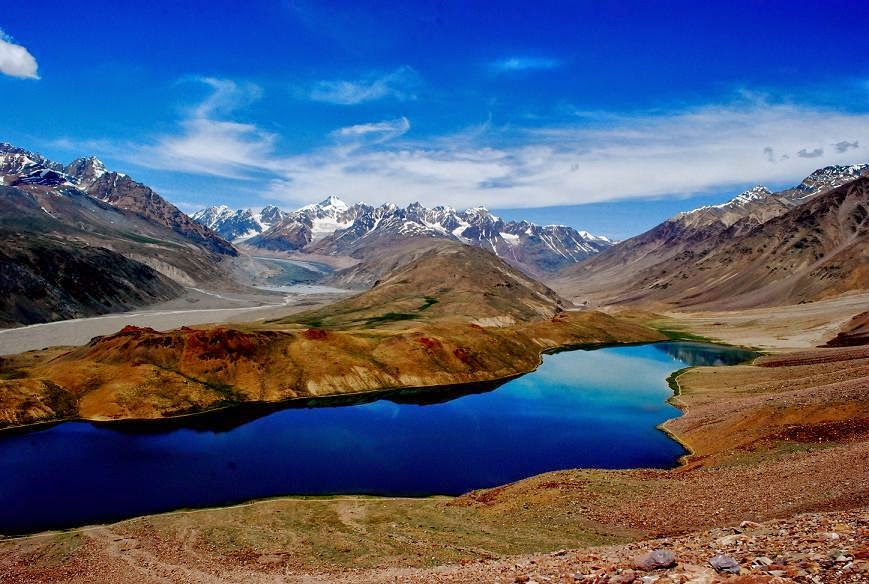 Chandra Taal Lake Of The Moon In The Himalayas India