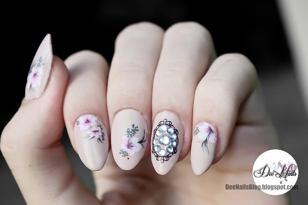 Deenails vintage floral nail art vintage floral nail art prinsesfo Image collections