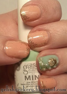 Gelish Seashell Nail Stud Art