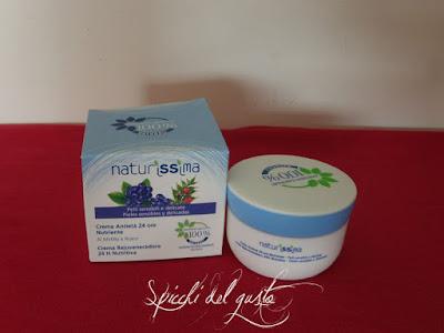 Crema antietà nutriente 24 ore al mirtillo e rusco