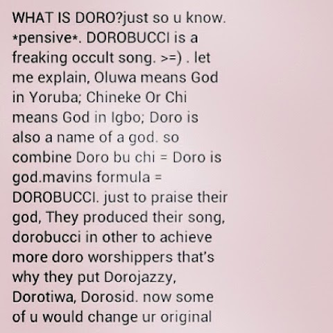 Don Jazzy Reacts to Allegation that Dorobucci is an Occultic Song