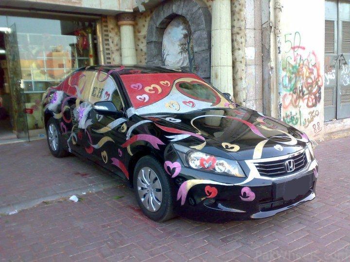 Wedding pakistani wedding decoration cars for Auto decoration in pakistan