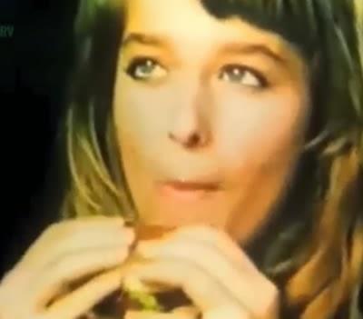 Propaganda do Bob's com Luciana Vendramini em 1989.