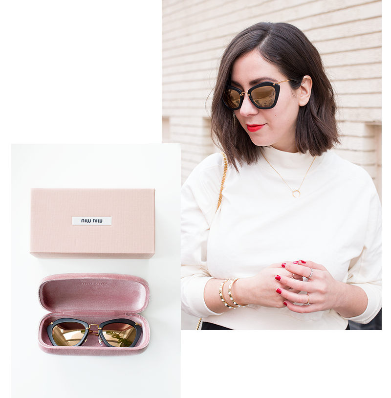 Miu Miu sunglasses via Maverick & Wolf