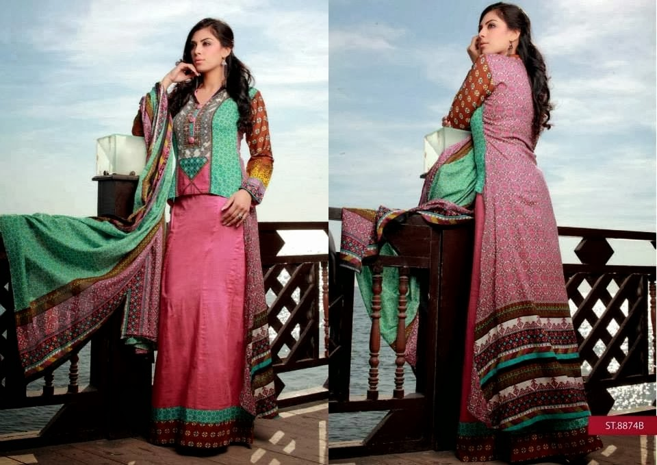Latest Lawn Fashion Designs 2014