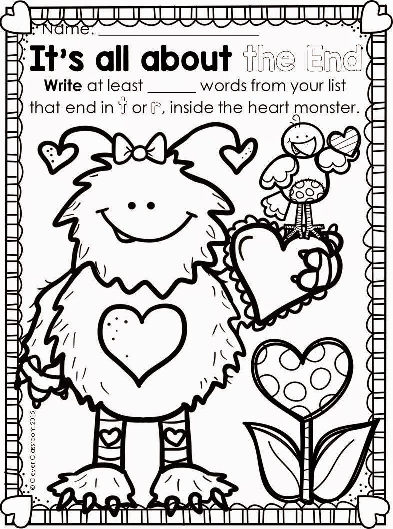Valentine S Day Word Work Clever Classroom Blog