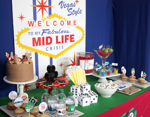 Wants And Wishes Party Planning Welcome To My Fabulous Midlife Crisis Birthday Vegas Style