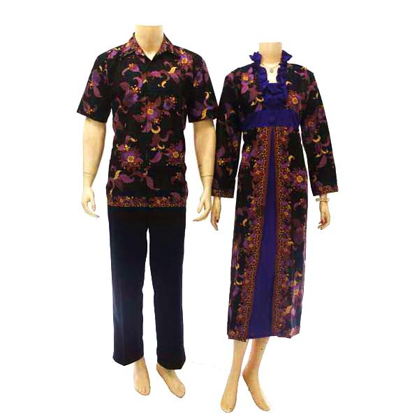 Model Batik Dress Gamis Batik Kerah V Lengan Panjang Tanpa