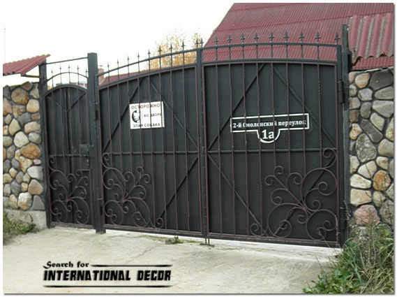 Choice of gate designs for private house and garage Metal gate designs images