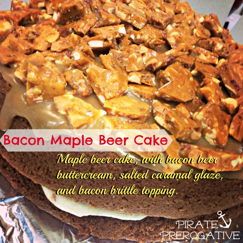 Bacon Maple Beer Cake- OMG this is amazing!