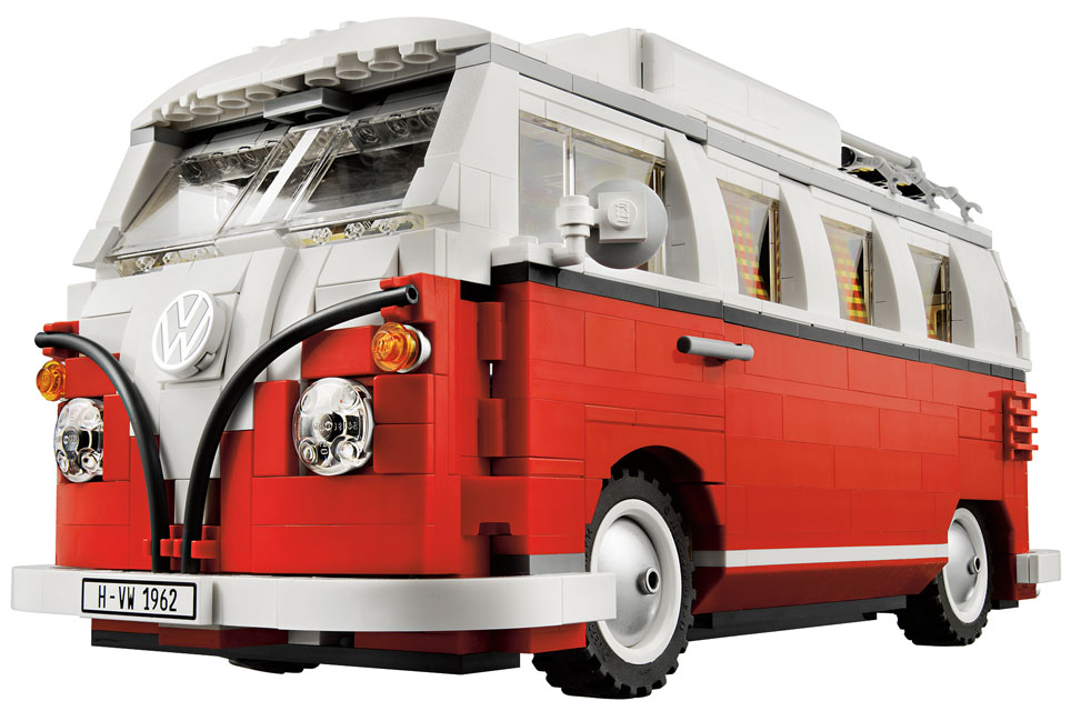 volkswagen camper van bulli is go lego making kit of. Black Bedroom Furniture Sets. Home Design Ideas