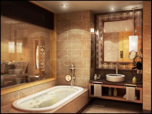 Spanish Style Bathroom Designs | Small Bathroom Floor Plans