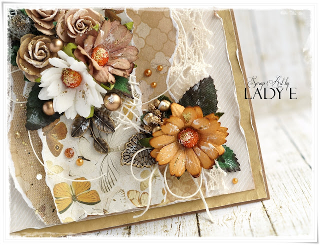 2 Earth Tone Cards With Metal Embellishments Wild Orchid