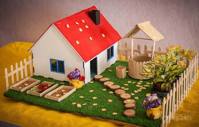 Как сделать поделку домик и башню Lucky Car