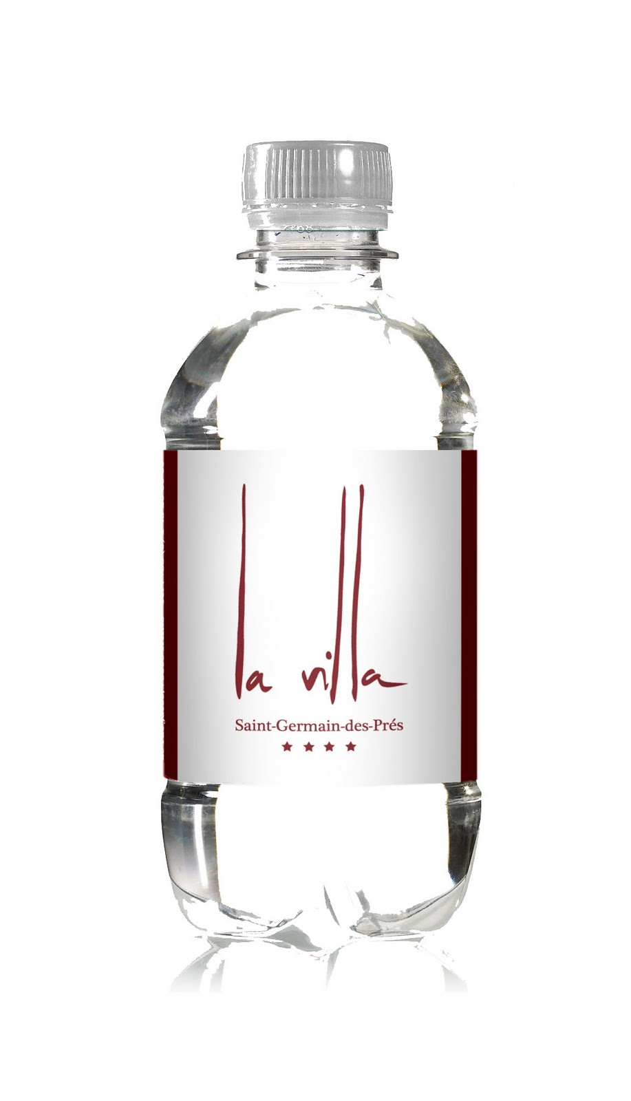 La villa saint germain water by drinkyz - Bouteille eau de paris ...