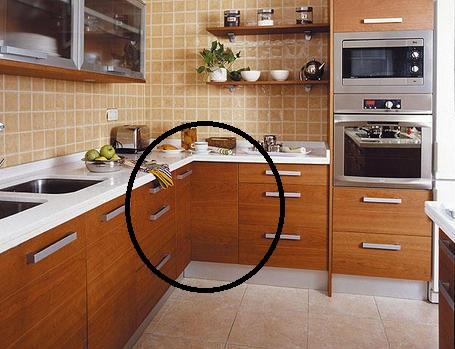 I d e a el espacio en la cocina soluciones para for Muebles de esquina para cocina