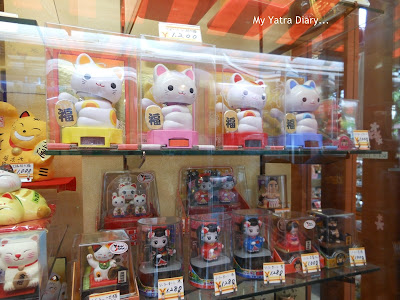 Hello Kitty souveneirs of Japan, Nakamise Dori Shopping arcade, Sensoji Temple