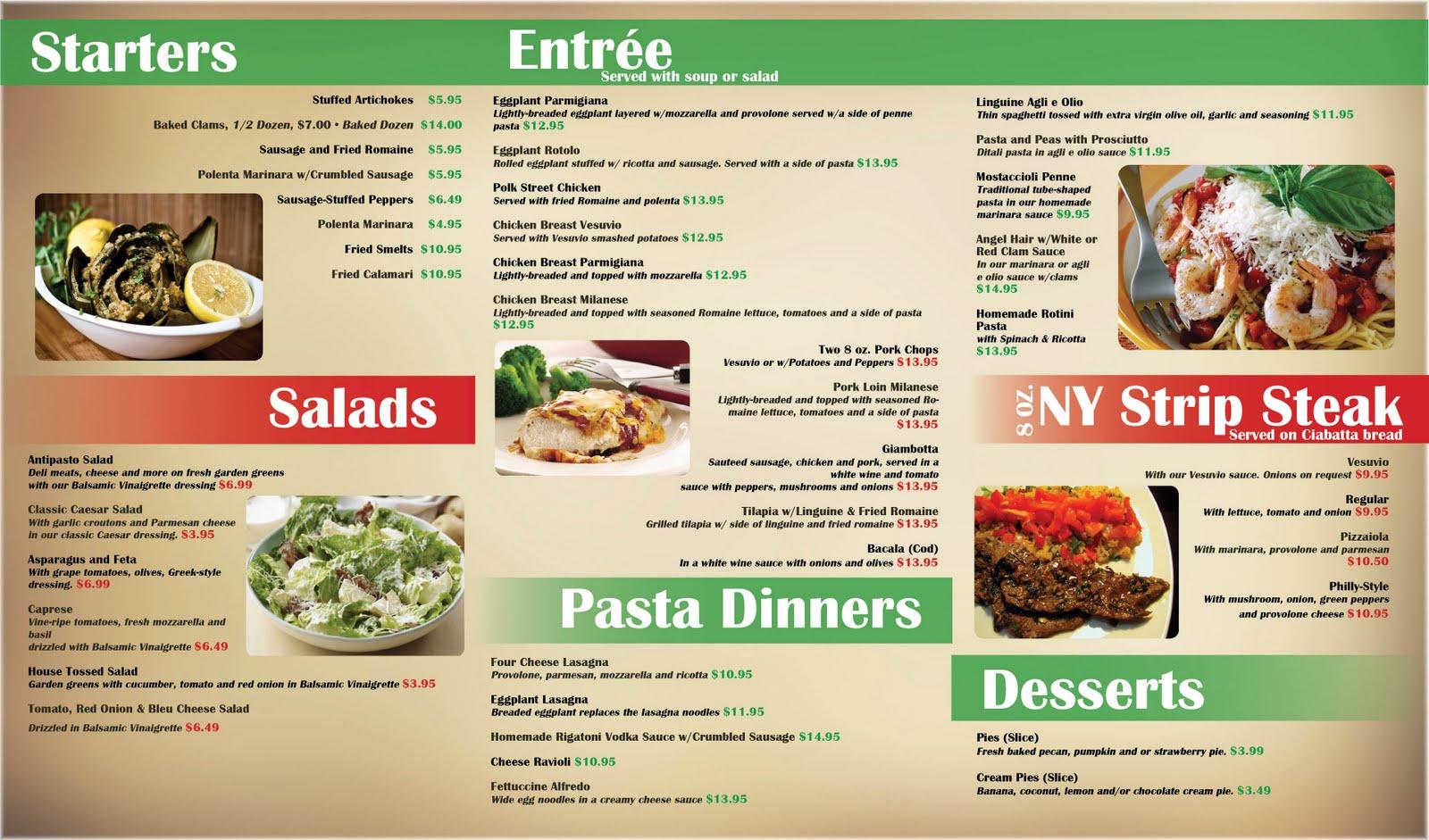 Alexandra jane art and design cuzin 39 s menu - Italian cuisine menu list ...