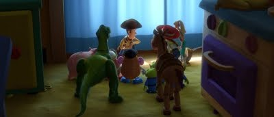 Woddy (Tom Hanks) et ses compagnons dans Toy Story 3