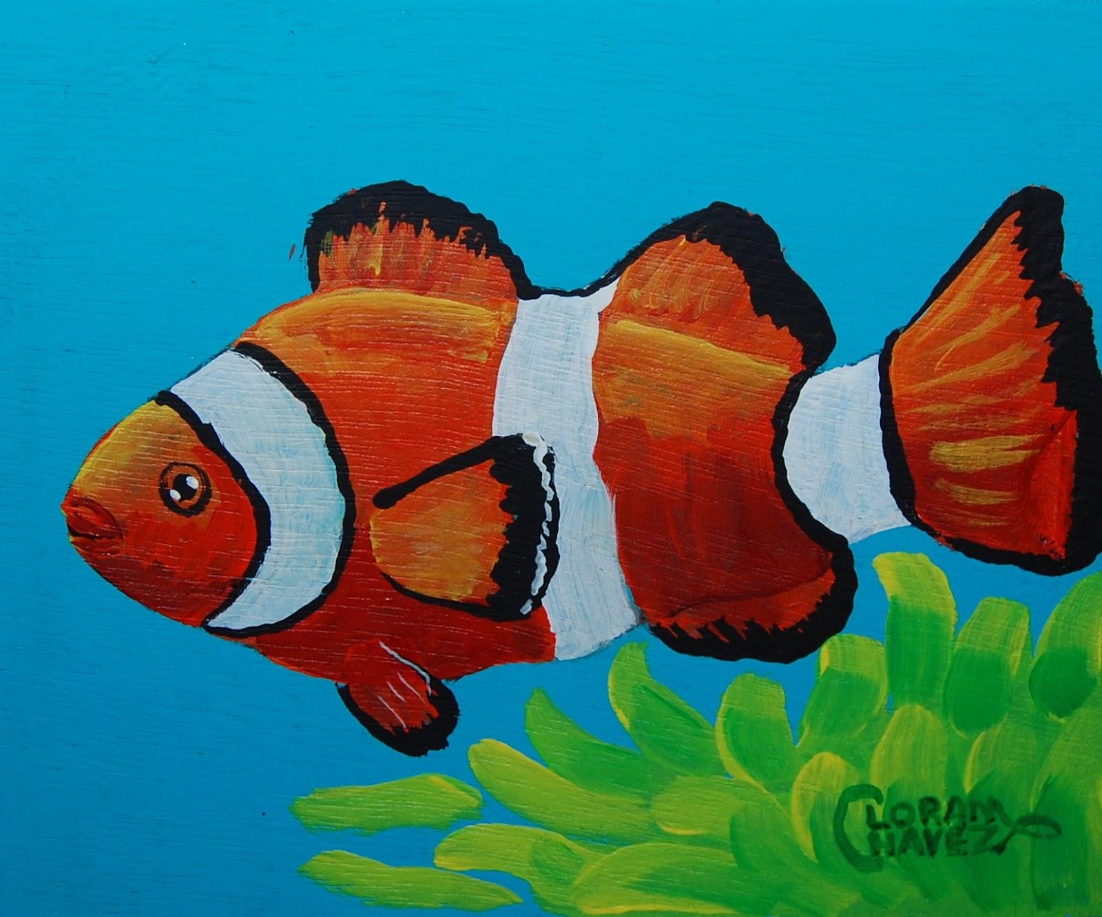 Coastal Art ~ Loran Chavez: Clownfish Trio