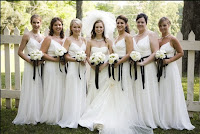 Eleagnt White Bridesmaid Dresses