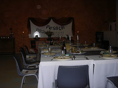 One of the Pesach groups were having the Seder in the hall - 2011