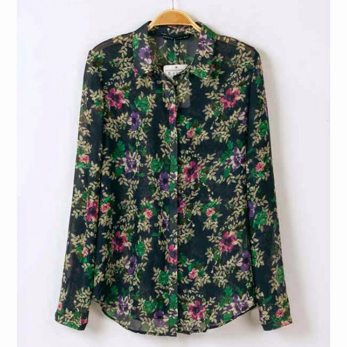 Zara Floral Print Blouse 73