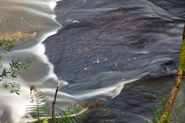 water over rocks in sheoak creek