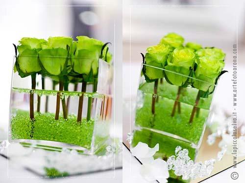 dekoracja weselna zielone jabłuszko