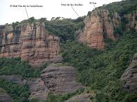 Cingleres a ponent de la Castellassa de Can Torras des del Coll Llarg