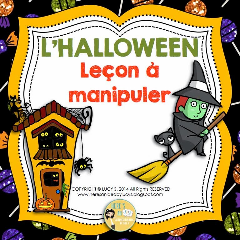 French Halloween Interactive Activities for Notebooks or Lapbooks