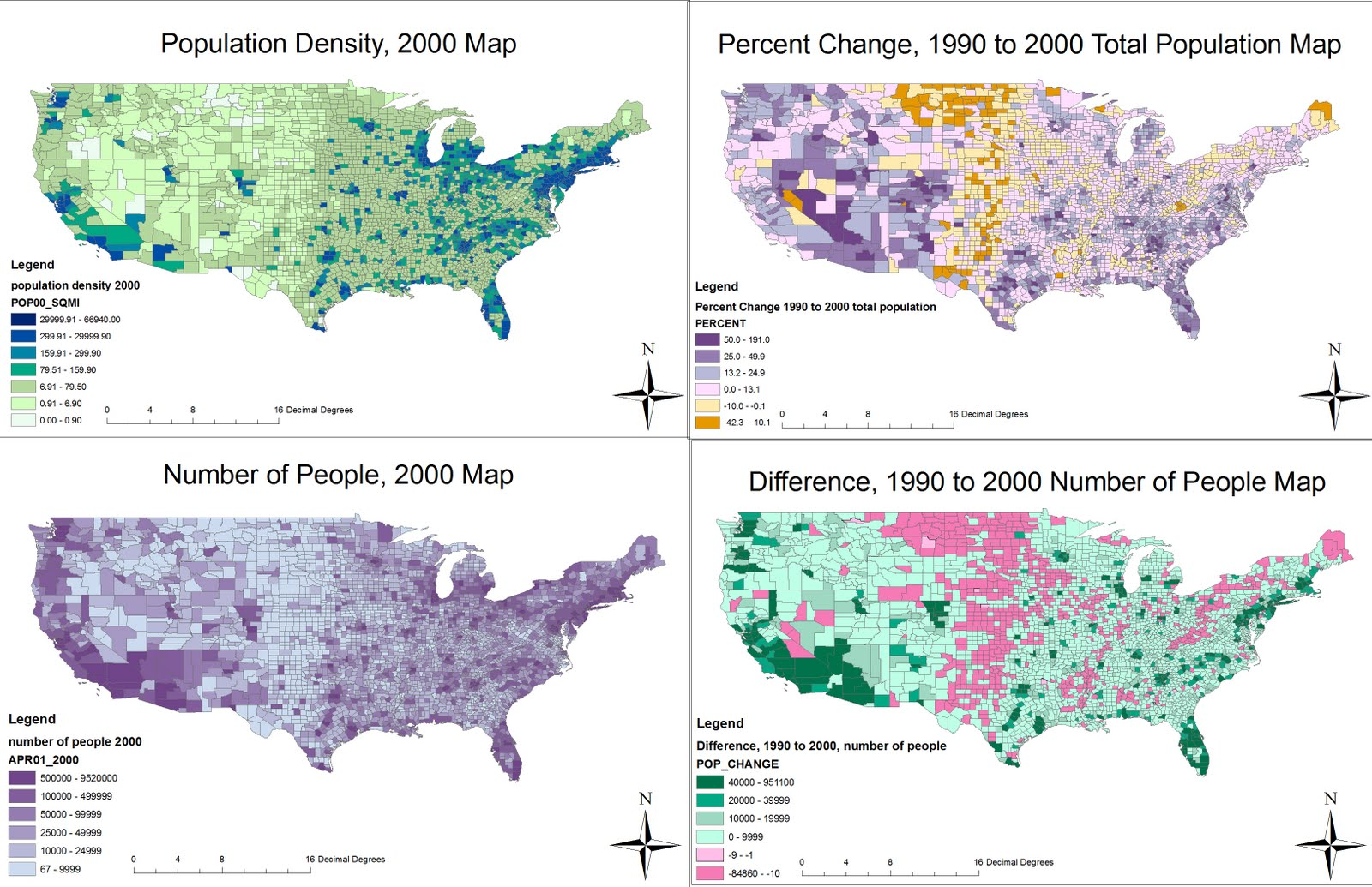 the population density 2000 map shows the population density in units of people per square mile of each county in the u s the calculations were made by