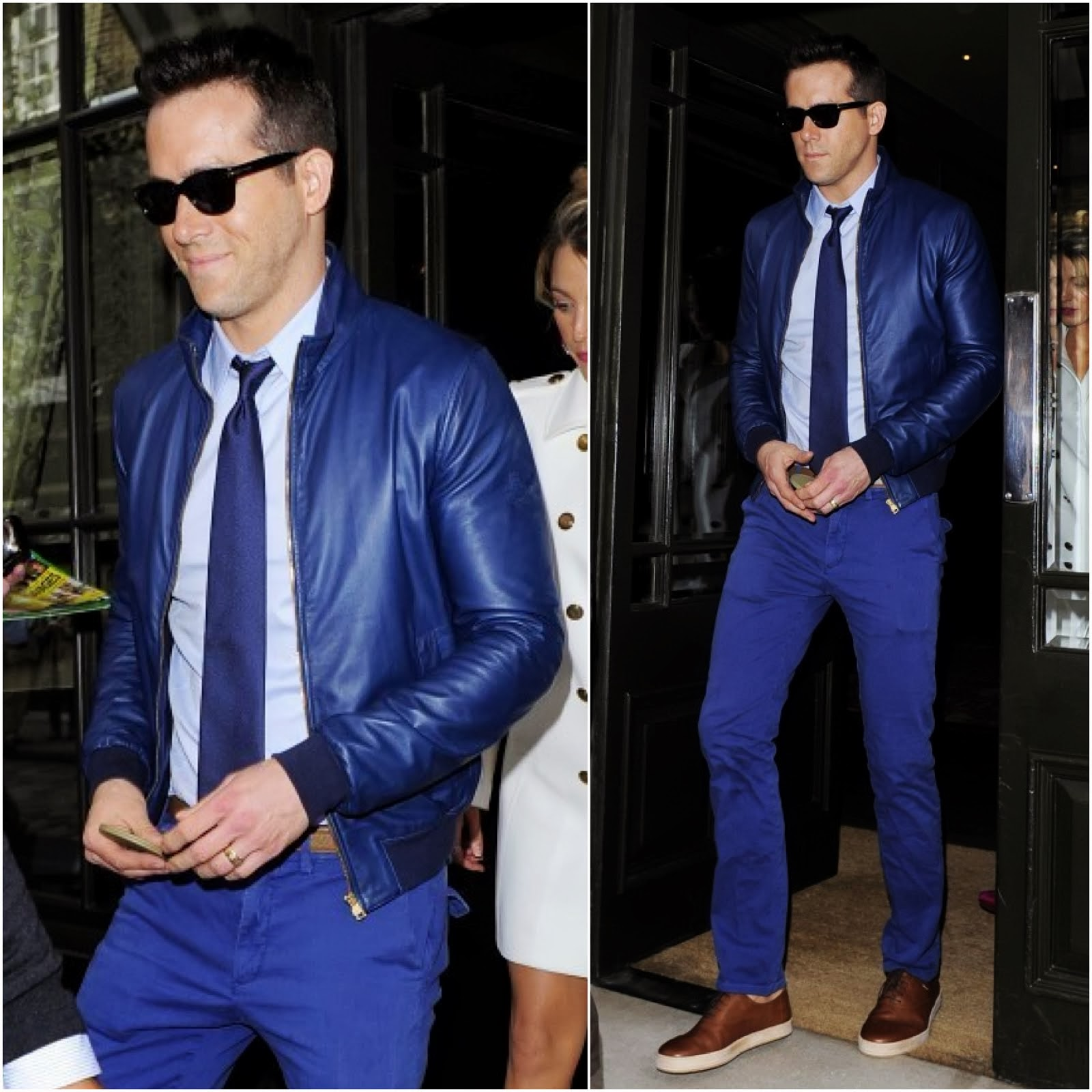 00O00 Menswear Blog: Ryan Reynolds in Gucci - London Street Style June 2013