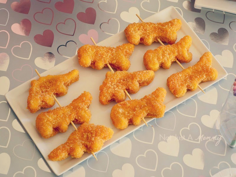 RAWR Means XOXO In Dinosaur Valentine's Day Party nuggets