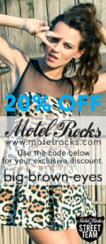 Get 20% off when you shop at Motel Rocks