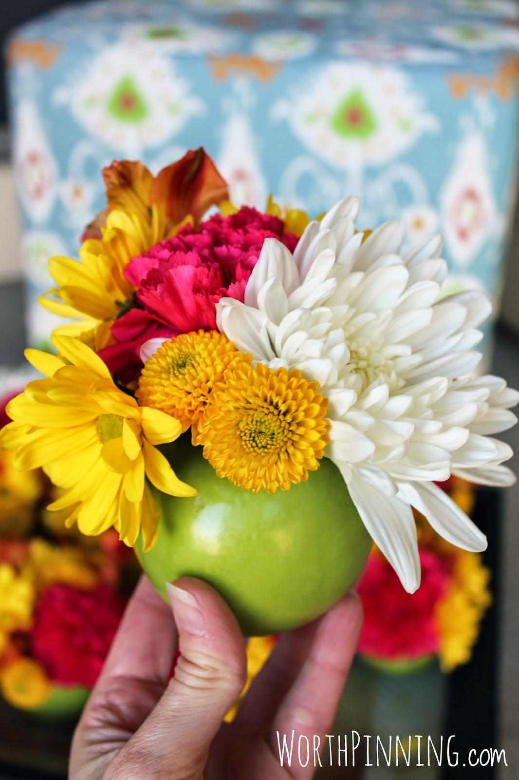 Worth Pinning Apple Vase Flower Arrangement