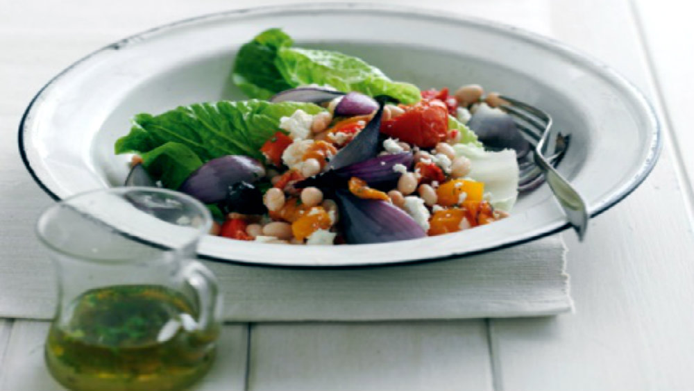 Movers And Moves: Roasted red onion and white bean salad