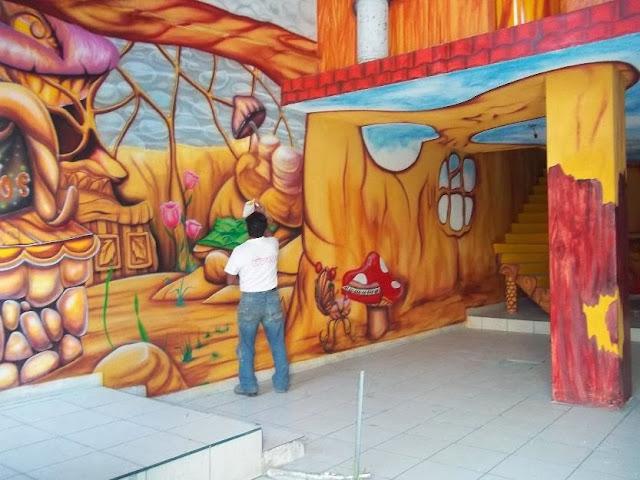 Paint house quer taro murales decorativos para salones de for Murales decorativos
