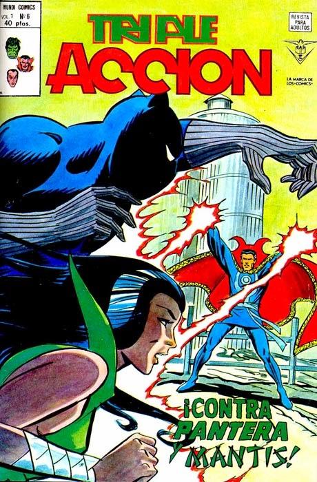 Portada de Triple Acción Volumen 1 Nº 6 Ediciones Vértice