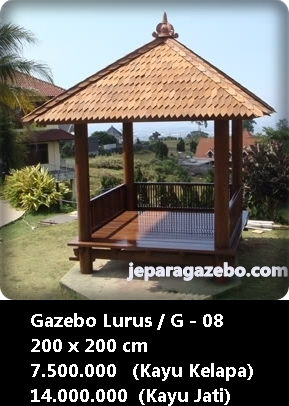 Galerry desain gazebo kayu kelapa