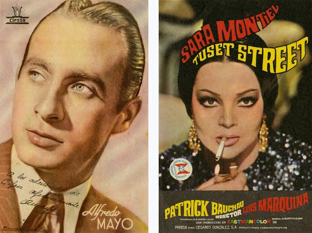 Alfredo mayo, Sara Montiel, propaganda, cine