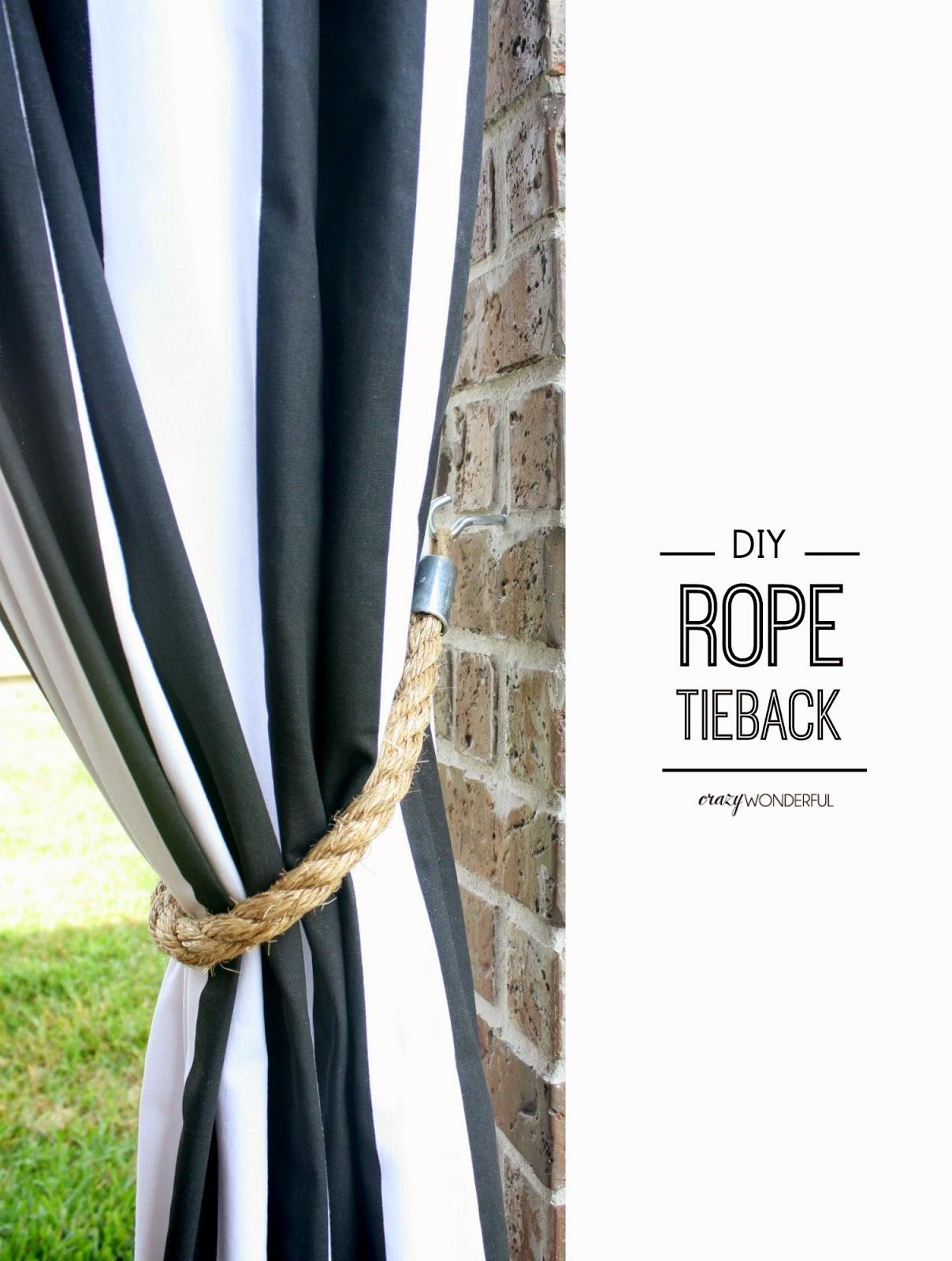 patio curtains + DIY rope tieback. Tuesday, September 16, 2014